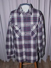VTG Fieldmaster Men's Flannel Work Shirt Large Plaid Lumberjack Wool Blend