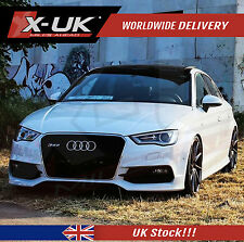 FRONT GRILL GLOSS BLACK WITH CHROME SURROUND FOR AUDI A3 S3 8V TO RS3  2012-2015