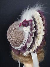 Hat Doll Size Bleuette - Tour Head 17/19 cm - Doll Hat (B192 Violet)