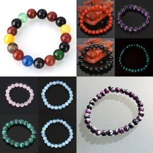 6mm Gemstone Elastic Stretch Bracelet Healing Stone Reiki Chakra