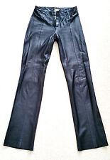 Women's Plein Sud black leather pants