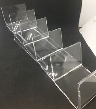Acrylic Five Way Clutch Purse Bag Merchandise Counter Display Fixture New