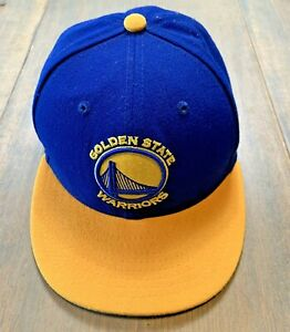 9Fifty Youth Unisex NBA Golden State Warriors Sport Blue /Yellow Adjustable Hat