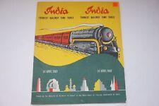 April 1967 India Indian Tourist Railway Train Timetable