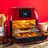 16.9qt 1800W 10-in-1 XXXL Air Fryer Countertop Oven Rotisserie Dehydrator Red