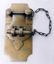 Vintage Cabin Cabinet Trunk Latch Hook Solid Brass Hasp Lock Gate