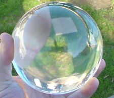 "BUTW 3"" Crystal Ball Wicca Gazing Scrying Reiki with Gold Tone Stand 0093"