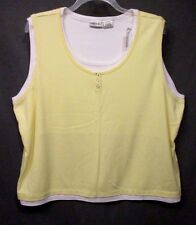 FASHION BUG womens plus size 30W 32W YELLOW Sleeveless Tank shirt GUC #1339