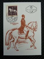 AUSTRIA MK 1972 1395 REITSCHULE MAXIMUMKARTE MAXIMUM CARD MC PFERD HORSE a8533
