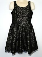 Next women Evening Special Occasion party dress Black & Silver size UK 14