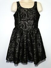 Stunning Next women Evening Special Occasion dress Black & Silver size UK 14