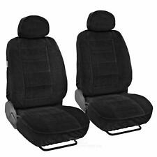 Encore Velour Cloth Seat Covers 4pc Bucket Front Pair Set in Black