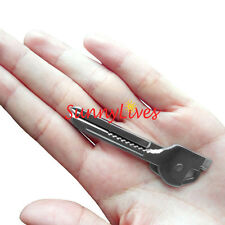 6 in 1 Utili-Key SWISS TECH Key Ring Chain MULTI-TOOL Pocket Knife Screwdriver
