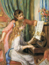 Two Young Girls at the Piano  Pierre-Auguste Renoir Art Print Music Poster 11x14