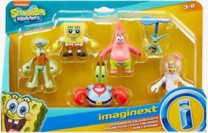 IMAGINEXT SpongeBob SquarePants Playset Figure x 6 Set BNIB Plankton Squidward