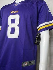 Minnesota Vikings Kirk Cousins #8 Jersey. Youth size. stitched. Nike Dry. New