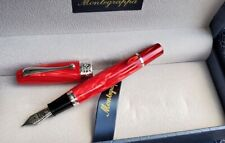 MONTEGRAPPA MIYA 450 RED CELLULOID LIMITED EDITION FOUNTAIN PEN CYBER MONDAY SAL