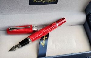 MONTEGRAPPA MIYA 450 RED CELLULOID LIMITED EDITION FOUNTAIN PEN