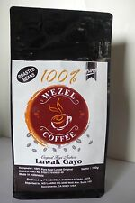 KOPI LUWAK 100% AUTHENTIC WILD CIVET COFFEE FROM GAYO, SUMATRA