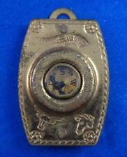 1940's Tom Mix Premium Ralston Straight Shooter Compass Magnifier Pendant