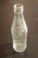 Vintage Dr. Pepper Clear Glass Soda Bottle