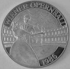 """Österreich 100 Schilling 1986 Silber Casinos Austria """"Opernball Tanzpaar klein"""""""