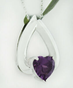 GEMSTONE 2.41 Cts ALEXANDRITE PENDANT NECKLACE 10k WHITE GOLD * New With Tag *