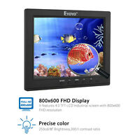 "EYOYO 8"" IPS TFT LCD Monitor Video Audio HDMI/BNC/AV/VGA input With Loudspeaker"