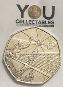 Olympic 50p Volleyball Fifty Pence coin 2011 - FREE DELIVERY