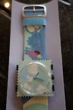 Colección de sellos Reloj Dama Francesa Flora cara y correa de cuero S.t.a.m.p.s.