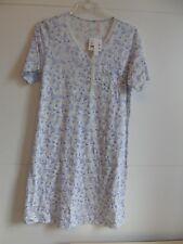 CALIDA Nachthemd Lila-weiss Kurzärmlig Gr. XS 36/38 Ub410