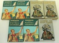 Lot of 7 Vintage Handbooks for Patrol Leaders Boy Scouts America BSA Outdoors