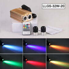 Dual 32W led fiber optic projector light engine driver with 2 output coulping