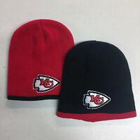 Kansas City Chiefs Short Beanie Skull Cap Hat Embroidered KC