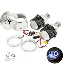 2.5 inch HID Bi xenon Projector Lens with White LED angle eyes Halo Ring DRL