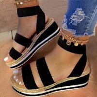 Sandales chaussures décontractées talons compensés fluo 3 couleurs ou classiques