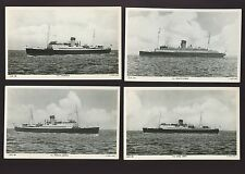 IOM Isle of Man SHIPPING maritime Steamers 4 early Tuck c1940/50s? RP PPCs