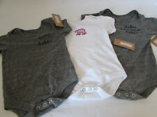 Celebrate Shop Baby Bodysuit White 12M Gray 12M Gray 18M Set of 3