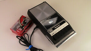 Vintage Panasonic Portable Cassette Tape Recorder RQ-309DS Tested w pwr cord