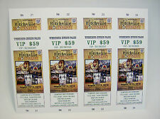 500 Custom Printed Tickets - Event Concert Raffle, Full Color, Perforated Stub