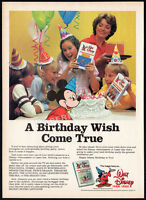WALT DISNEY HOME VIDEO__Vintage 1982 print AD promo__On Vacation w/ Mickey Mouse