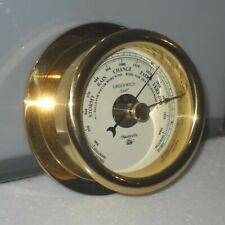 More details for ships nauticalia greenwich model solid brass bulkhead barometer boat marine