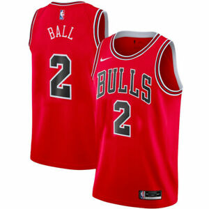 Lonzo Ball #2 Chicago Bulls Red Jersey #2