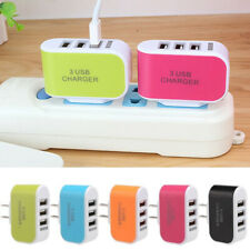 US/EU Multi Port USB Charger 3 Ports Adapter Travel Wall Phone Charging Tool Acc