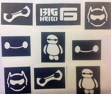 9 X plantillas Gran Héroe 6 cargando su brillo Tattoo Kit De Pintura De Cara Aerógrafo