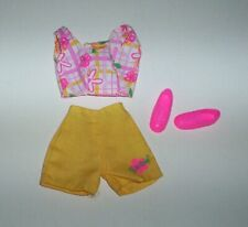 Barbie Doll Clothes Lot Shorts Set with Pink Tennis Shoes