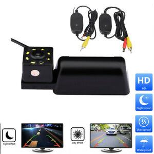 12V 8 LED Kabellos Auto Rückfahrkamera Autokamera Einparkhilfe für Ford Transit