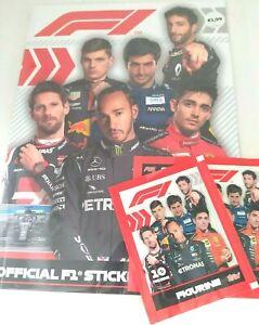 TOPPS F1 FORMULA 1 STICKER ALBUM STARTER PACKS & 25 STICKERS