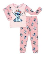 Disney Toddler Girl LILO & STICH Pajamas Set  Size 4T New Pink Snug Fit NEW