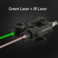 Tactical Dual Beam Green Laser and Infrared Red Laser Combo Shockproof IR Laser